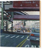 To The Triboro Wood Print