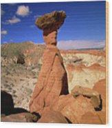 Toadstool Caprocks Utah Wood Print