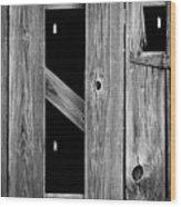 Tobacco Barn Wood Detail Wood Print