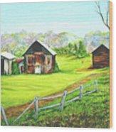 Tobacco Barns North Carolina Wood Print