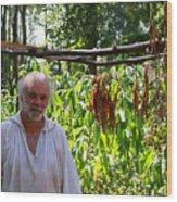 Tobacco Farmer Wood Print