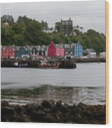 Tobermory Town Cityscape, Isle Of Mull Wood Print