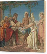 Tobias Brings His Bride Sarah To The House Of His Father Tobit Wood Print
