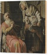 Tobit And Anna With The Kid Wood Print