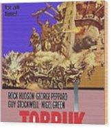 Tobruk Theatrical Poster 1967 Color Added 2016 Wood Print