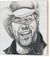 Toby Keith Wood Print