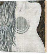 Tocar Mi Amor Wood Print