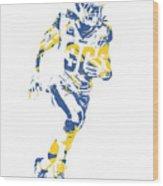Todd Gurley Los Angeles Rams Pixel Art 30 Wood Print