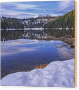 Todd Lake Wood Print