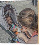 Toddler In Stroller 10512ct Wood Print