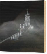 Todos Santos In The Fog Wood Print