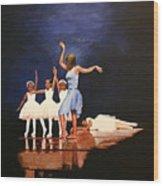 Toe Dancer Wood Print