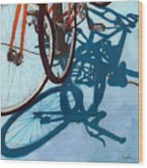 Together - City Bikes Wood Print by Linda Apple