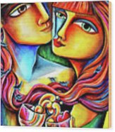 Together In Love Wood Print