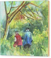 Together Old  In Italy 07 Wood Print by Miki De Goodaboom