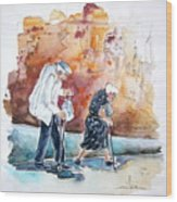 Together Old In Portugal 01 Wood Print