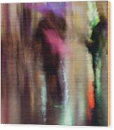 Together Under An Umbrella Wood Print