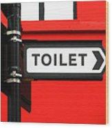 Toilet Wood Print