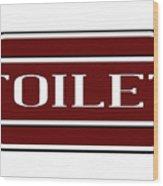 Toilet Station Name Sign Wood Print