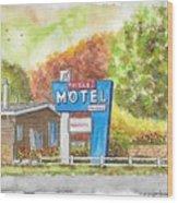 Toiyabe Motel In Walker, California Wood Print