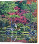 Toji-in Reflection Wood Print