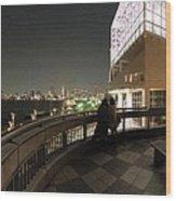 Tokyo Bay Nightview From Harumi Port Wood Print