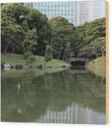 Tokyo Japanese Garden Wood Print