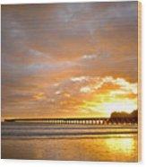 Tolaga Bay Pier IIi Wood Print