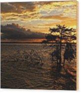 Toledo Bend Sunset Wood Print