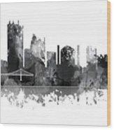 Toledo Ohio Skyline Wood Print