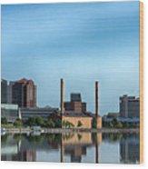 Toledo Skyline Wood Print