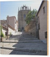 Toledo Steps To Cathedral Wood Print