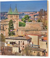 Toledo Town View Wood Print