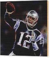 Tom Brady - New England Patriots Wood Print