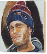 Tom Brady Wood Print by Dave Olsen