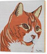 Tom Cat Wood Print