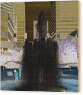 Tom Mccall Waterfront Fountain Wood Print