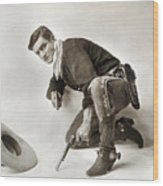 Tom Mix (1880-1944) Wood Print