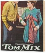 Tom Mix In The Feud 1919 Wood Print