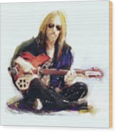 Tom Petty Wood Print