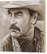Tom Selleck The Western Collection Wood Print