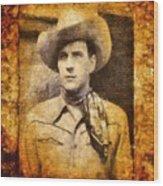 Tom Tyler, Vintage Western Actor Wood Print