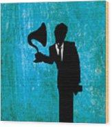 Tom Waits Wood Print by Janina Aberg