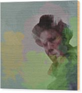Tom Waits Wood Print