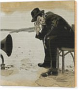 Tom Waits Wood Print by Sean King