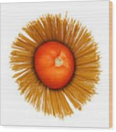 Tomato And Pasta Wood Print by Blink Images