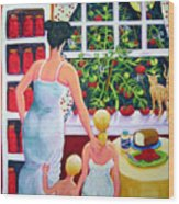Tomato - Materphobia Wood Print