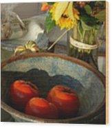 Tomato Still Life Wood Print