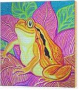 Tomatoe Frog Wood Print