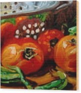 Tomatoes And Onions Wood Print